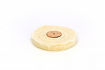 "Buffing Wheel,  4"" x 1/2"", Double Stitched, White, 100 Layer. X8133"